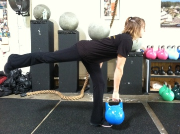 I like weighting the move down with a kb in the opposite hand from the leg working.