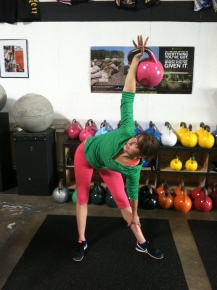 I did get made fun of for using the kettlebell that matched my outfit haha