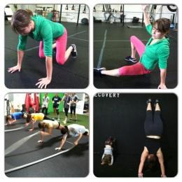 sit through, planks, handstands
