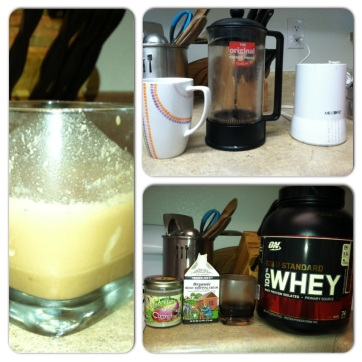 coconut mocha protein shake