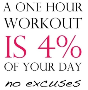 a workout is 4% of your day