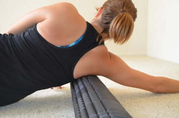 foam rolling for your lats