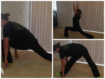 crescent to hamstring stretch