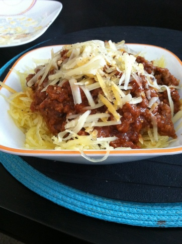 spaghetti squash and meat sauce recipe