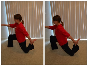 kneeling dynamic quad stretch