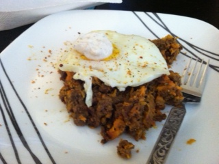 ground beef sweet potato hash